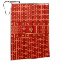 Montenegro Shower Curtain , Shower Bathroom Curtain 55x72 Inch Waterproof Fabric with Hooks , Wildly used in bathroom and hotel etc.