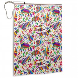 Animal Pinata Rainbow Shower Curtain , Shower Bathroom Curtain 55x72 Inch Waterproof Fabric with Hooks , Wildly used in bathroom and hotel etc.