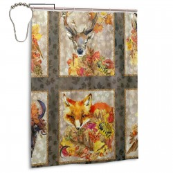 Animal Friends Shower Curtain , Shower Bathroom Curtain 55x72 Inch Waterproof Fabric with Hooks , Wildly used in bathroom and hotel etc.