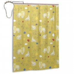 African Animal Shower Curtain , Shower Bathroom Curtain 55x72 Inch Waterproof Fabric with Hooks , Wildly used in bathroom and hotel etc.