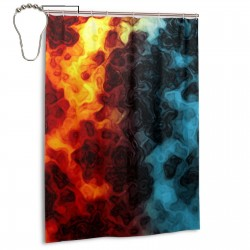 Abstract Colorful Art Shower Curtain , Shower Bathroom Curtain 55x72 Inch Waterproof Fabric with Hooks , Wildly used in bathroom and hotel etc.