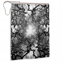 Abstract Black And White Tree Shower Curtain , Shower Bathroom Curtain 55x72 Inch Waterproof Fabric with Hooks , Wildly used in bathroom and hotel etc.