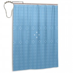 Micronesia Shower Curtain , Shower Bathroom Curtain 55x72 Inch Waterproof Fabric with Hooks , Wildly used in bathroom and hotel etc.