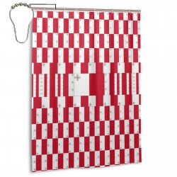 Malta Shower Curtain , Shower Bathroom Curtain 55x72 Inch Waterproof Fabric with Hooks , Wildly used in bathroom and hotel etc.