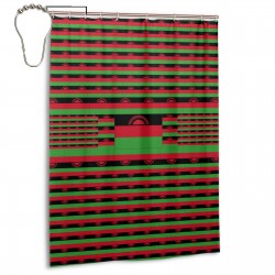 Malawi Shower Curtain , Shower Bathroom Curtain 55x72 Inch Waterproof Fabric with Hooks , Wildly used in bathroom and hotel etc.