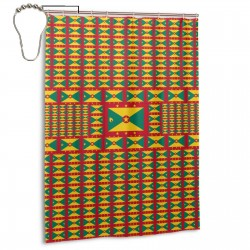 Grenada Shower Curtain , Shower Bathroom Curtain 55x72 Inch Waterproof Fabric with Hooks , Wildly used in bathroom and hotel etc.