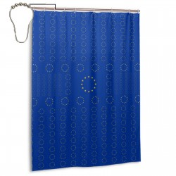 European Union Shower Curtain , Shower Bathroom Curtain 55x72 Inch Waterproof Fabric with Hooks , Wildly used in bathroom and hotel etc.