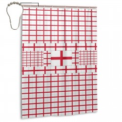 England Shower Curtain , Shower Bathroom Curtain 55x72 Inch Waterproof Fabric with Hooks , Wildly used in bathroom and hotel etc.