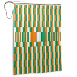 """Cote D""""lvoire Shower Curtain , Shower Bathroom Curtain 55x72 Inch Waterproof Fabric with Hooks , Wildly used in bathroom and hotel etc."""