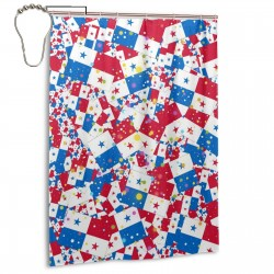 Panama Shower Curtain , Shower Bathroom Curtain 55x72 Inch Waterproof Fabric with Hooks , Wildly used in bathroom and hotel etc.