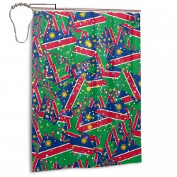 Namibia Shower Curtain , Shower Bathroom Curtain 55x72 Inch Waterproof Fabric with Hooks , Wildly used in bathroom and hotel etc.