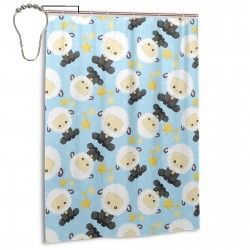 Baby Black Sheep Shower Curtain , Shower Bathroom Curtain 55x72 Inch Waterproof Fabric with Hooks , Wildly used in bathroom and hotel etc.