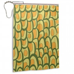 Avocado Pattern Illustration Shower Curtain , Shower Bathroom Curtain 55x72 Inch Waterproof Fabric with Hooks , Wildly used in bathroom and hotel etc.