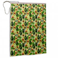 Avocado Palm Tree Shower Curtain , Shower Bathroom Curtain 55x72 Inch Waterproof Fabric with Hooks , Wildly used in bathroom and hotel etc.