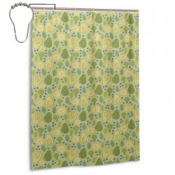 Avocado Broccoli Shower Curtain , Shower Bathroom Curtain 55x72 Inch Waterproof Fabric with Hooks , Wildly used in bathroom and hotel etc.