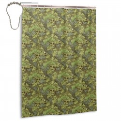 Art Chameleon Pattern Shower Curtain , Shower Bathroom Curtain 55x72 Inch Waterproof Fabric with Hooks , Wildly used in bathroom and hotel etc.