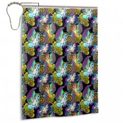 Art Boho Chic Unicorns Shower Curtain , Shower Bathroom Curtain 55x72 Inch Waterproof Fabric with Hooks , Wildly used in bathroom and hotel etc.