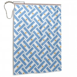 Argentina Flag Weave Shower Curtain , Shower Bathroom Curtain 55x72 Inch Waterproof Fabric with Hooks , Wildly used in bathroom and hotel etc.