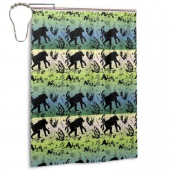 Ape Man Times Shower Curtain , Shower Bathroom Curtain 55x72 Inch Waterproof Fabric with Hooks , Wildly used in bathroom and hotel etc.