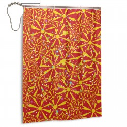 Macedonia Shower Curtain , Shower Bathroom Curtain 55x72 Inch Waterproof Fabric with Hooks , Wildly used in bathroom and hotel etc.