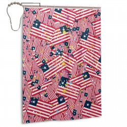 Liberia Shower Curtain , Shower Bathroom Curtain 55x72 Inch Waterproof Fabric with Hooks , Wildly used in bathroom and hotel etc.