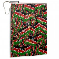 Kenya Shower Curtain , Shower Bathroom Curtain 55x72 Inch Waterproof Fabric with Hooks , Wildly used in bathroom and hotel etc.