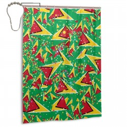 Guyana Shower Curtain , Shower Bathroom Curtain 55x72 Inch Waterproof Fabric with Hooks , Wildly used in bathroom and hotel etc.