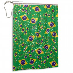 Brazil Shower Curtain , Shower Bathroom Curtain 55x72 Inch Waterproof Fabric with Hooks , Wildly used in bathroom and hotel etc.