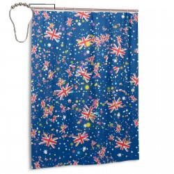 Australia Shower Curtain , Shower Bathroom Curtain 55x72 Inch Waterproof Fabric with Hooks , Wildly used in bathroom and hotel etc.