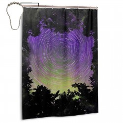Astro Spiral Shower Curtain , Shower Bathroom Curtain 55x72 Inch Waterproof Fabric with Hooks , Wildly used in bathroom and hotel etc.