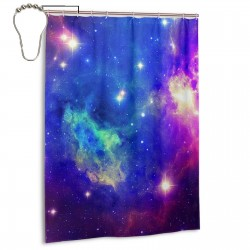 Space Nebula Galaxy Shower Curtain , Shower Bathroom Curtain 55x72 Inch Waterproof Fabric with Hooks , Wildly used in bathroom and hotel etc.