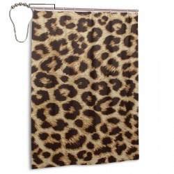 Leopard Grain Shower Curtain , Shower Bathroom Curtain 55x72 Inch Waterproof Fabric with Hooks , Wildly used in bathroom and hotel etc.