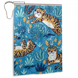 Cartoon Orange Tigers Shower Curtain , Shower Bathroom Curtain 55x72 Inch Waterproof Fabric with Hooks , Wildly used in bathroom and hotel etc.
