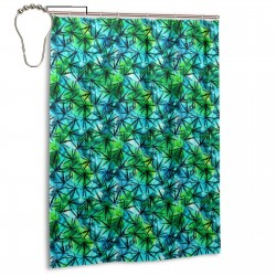 Cannabis Leaves Watercolor Pattern Shower Curtain , Shower Bathroom Curtain 55x72 Inch Waterproof Fabric with Hooks , Wildly used in bathroom and hotel etc.