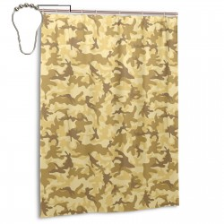 Camo Camouflage Yellow Shower Curtain , Shower Bathroom Curtain 55x72 Inch Waterproof Fabric with Hooks , Wildly used in bathroom and hotel etc.