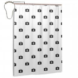 Camera Shower Curtain , Shower Bathroom Curtain 55x72 Inch Waterproof Fabric with Hooks , Wildly used in bathroom and hotel etc.