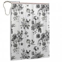 Vintage Floral Pattern Shower Curtain , Shower Bathroom Curtain 55x72 Inch Waterproof Fabric with Hooks , Wildly used in bathroom and hotel etc.
