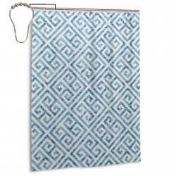 Tile Mosaic Pattern Shower Curtain , Shower Bathroom Curtain 55x72 Inch Waterproof Fabric with Hooks , Wildly used in bathroom and hotel etc.