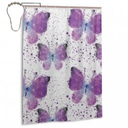 Polygonal Butterflies Modern Shower Curtain , Shower Bathroom Curtain 55x72 Inch Waterproof Fabric with Hooks , Wildly used in bathroom and hotel etc.