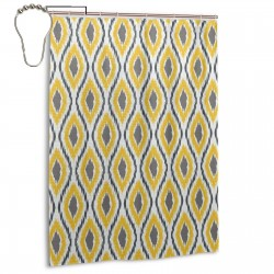 Oval Double Design Shower Curtain , Shower Bathroom Curtain 55x72 Inch Waterproof Fabric with Hooks , Wildly used in bathroom and hotel etc.