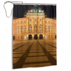 Chemnitz Opera Shower Curtain , Shower Bathroom Curtain 55x72 Inch Waterproof Fabric with Hooks , Wildly used in bathroom and hotel etc.
