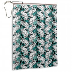 Chameleon Branch Monstera Leaf Shower Curtain , Shower Bathroom Curtain 55x72 Inch Waterproof Fabric with Hooks , Wildly used in bathroom and hotel etc.