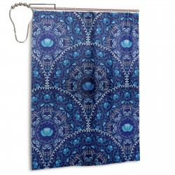 Navy Blue Shower Curtain , Shower Bathroom Curtain 55x72 Inch Waterproof Fabric with Hooks , Wildly used in bathroom and hotel etc.