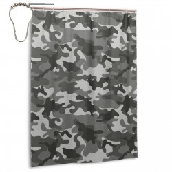 Monochrome Attire Pattern Shower Curtain , Shower Bathroom Curtain 55x72 Inch Waterproof Fabric with Hooks , Wildly used in bathroom and hotel etc.