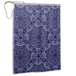 Modern Circular Pattern Floral 1 Shower Curtain , Shower Bathroom Curtain 55x72 Inch Waterproof Fabric with Hooks , Wildly used in bathroom and hotel etc.