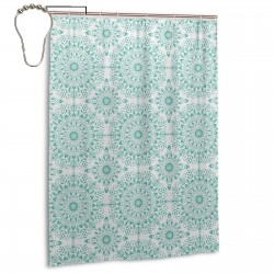 Mandala Oriental Image Shower Curtain , Shower Bathroom Curtain 55x72 Inch Waterproof Fabric with Hooks , Wildly used in bathroom and hotel etc.