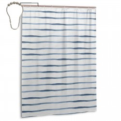 Lines Soft Picture Shower Curtain , Shower Bathroom Curtain 55x72 Inch Waterproof Fabric with Hooks , Wildly used in bathroom and hotel etc.