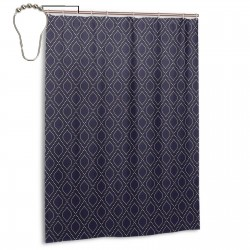 Geometric Dotted Pattern Shower Curtain , Shower Bathroom Curtain 55x72 Inch Waterproof Fabric with Hooks , Wildly used in bathroom and hotel etc.