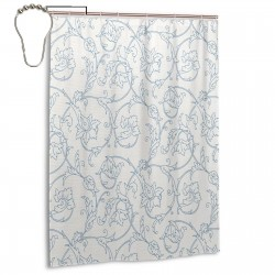 Flower Orchids Bohemian Style Shower Curtain , Shower Bathroom Curtain 55x72 Inch Waterproof Fabric with Hooks , Wildly used in bathroom and hotel etc.