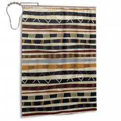 Ethnic Style Shower Curtain , Shower Bathroom Curtain 55x72 Inch Waterproof Fabric with Hooks , Wildly used in bathroom and hotel etc.